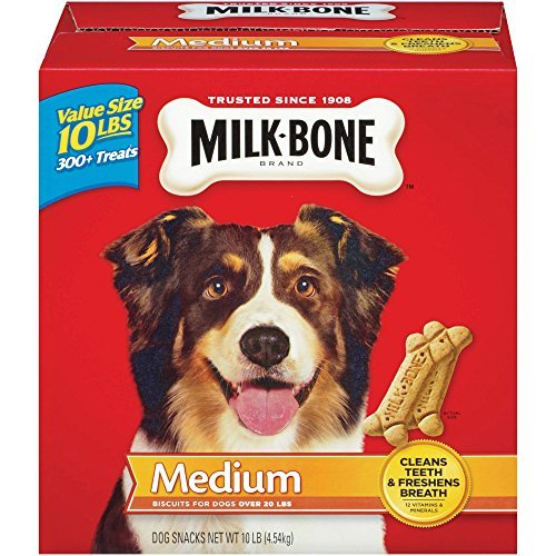10 Lb Bone (Milk-Bone Original Dog Biscuits - for Medium-Sized Dogs, 2 BOXES OF 10-Pound EACH by Milk-Bone)