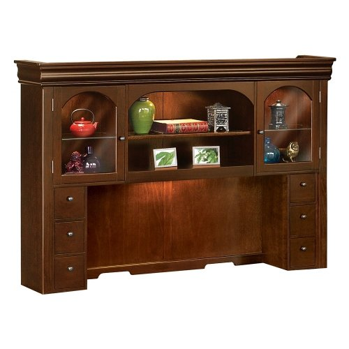 Traditional Hutch with Deep Walnut Finish - 71.75