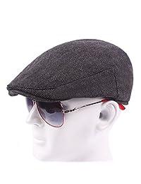 ZLSLZ Men's Cotton Blend Ivy Tweed Newsboy Cabbie Gatsby Golf Hat Cap