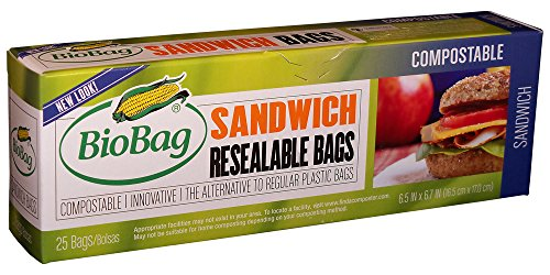 BioBag Resealable Compostable Sandwich Count product image