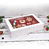 """20-Pack Bakery Boxes with Window, 12"""" x 8"""" x"""