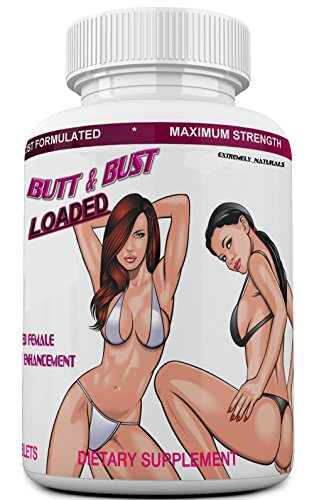 Butt & Bust Loaded, Best Breast Enlargement, Butt Enlargement & Skin Tightening Pills - Natural Bust & Butt Enhancement - Female Body Augmentation - Get Fuller, Firmer Breasts, Booty & Skin. 90 Tabs (Best Natural Breast Enhancement Pills)