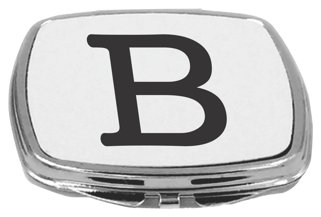 Rikki Knight Compact Mirror, Bold Letter B Initial Monogram, 5 Ounce