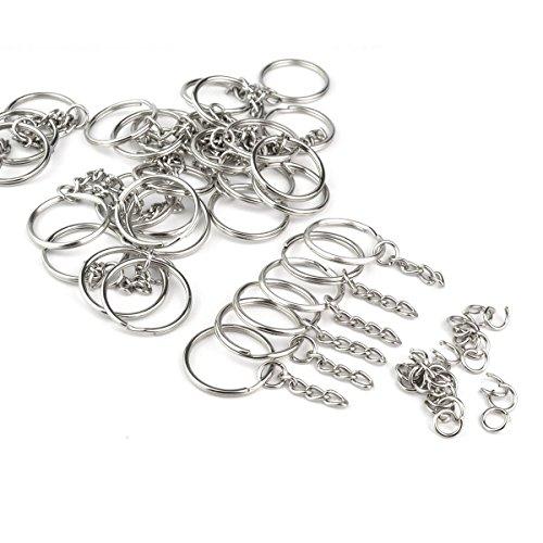 Jmkcoz 100pc Metal Split Silver product image