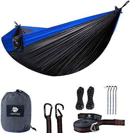 Anyoo Camping Hammock Compact Portable Multifunctional Water Repellent as Tarp Shelter Ground Mat Perfect for Camping Hiking Backpacking Beach Adventure