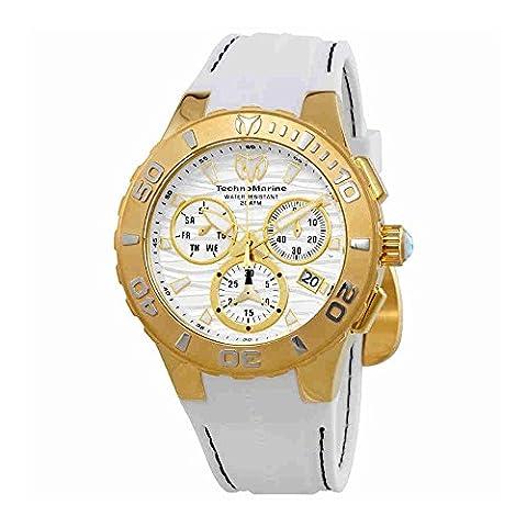 TechnoMarine Cruise Medusa Chronograph White Dial Mens Watch 115077 - Chronograph White Dial