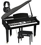 Classic Cantabile GP- 500 Piano à queue noir brillant set banc + écouteurs inclus