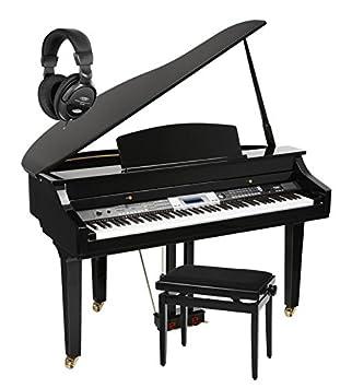 Classic Cantabile GP-500 piano de cola digital negro de alto brillo - Set. incl. Banco + auriculares: Amazon.es: Instrumentos musicales