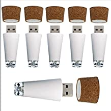 Ahayka Set of 6 Premium Cork Wine Bottle LED Lights – Rechargeable USB Light to Decorate Wine or Spirit Bottles. Perfect as a Present, DIY, Décor, or Party. Color: Multicolor
