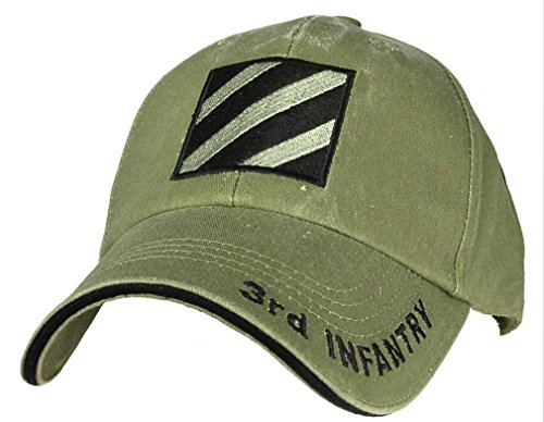 Us 3rd Infantry Division - U.S. Army 3rd Infantry Division Embroidered Hat - OD Green - Veteran Owned Business