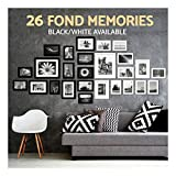 26pcs Black+White Photo Frame Set Hanging Picture Modern Display Home Wall Art Decor