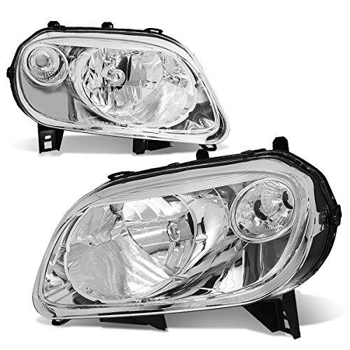 Chrome Housing Clear Corner Headlight/Lamps - Pair ()