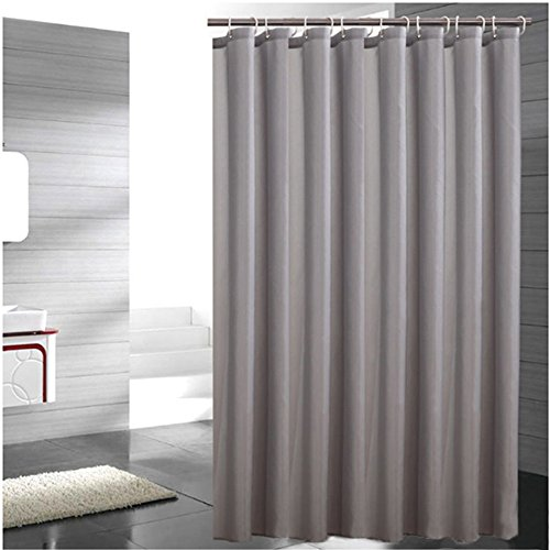 tant Fabric Shower Curtain Waterproof/Water-Repellent & Antibacterial (80''X80'', Pure ash) (Ash Metal Bed)