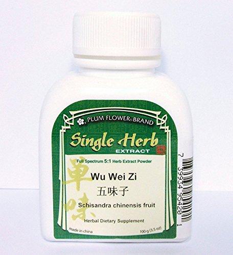 Schisandra Chinensis Fruit, Herb Extract Powder / Wu Wei Zi, 100g or 3.5oz (Caps Singles 100 Herbal)
