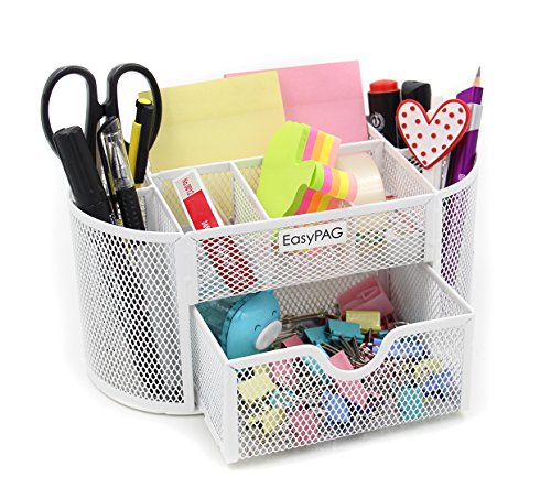 cute office furniture. easypag school office desk accessories organizer 9 components desktop supplies caddy with drawerwhite cute furniture