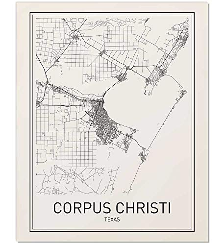 - Corpus Christi Poster, Map of Corpus Christi, Corpus Christi Map, City Map Posters, Modern Map Art, City Prints, Minimal Print, Wall Decor, City Poster, City Map Wall Art, Minimalist Posters, 8x10