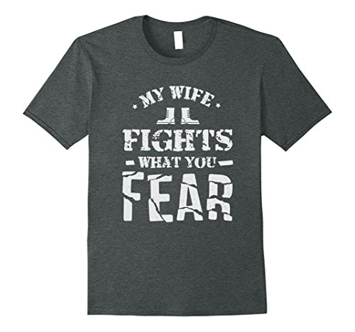 Army Wife Dark T-shirts (Mens My Wife Serves In The Army Shirt Large Dark Heather)