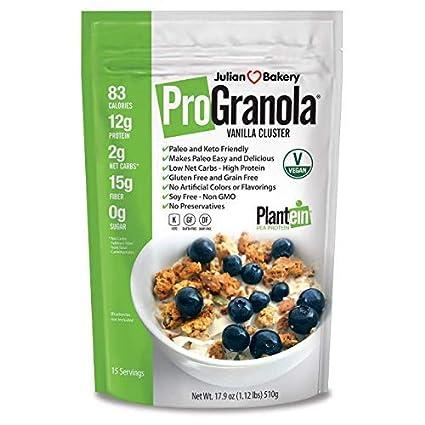 Julian Bakery ProGranola Cereal | Vegano | Vainilla Cluster ...