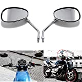 Best View Mirrors For Honda Motorcycles - 10MM Chrome Motorcycle Handlebar Rearview Side Mirrors For Review