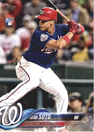 2018 Topps Update and Highlights Baseball Series #US300 Juan Soto RC Rookie Washington Nationals Official MLB Trading Card