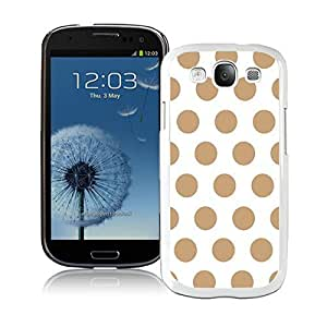 BINGO Funniest Polka Dot White and Brown Samsung Galaxy S3 i9300 Case White Cover