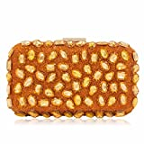 Women Evening Bag Gold Clutches Bags Wedding Party Purple Clutch Purses Orange Mini