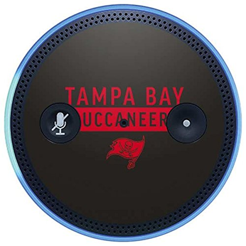 Skinit NFL Tampa Bay Buccaneers Amazon Echo Plus Skin - Tampa Bay Buccaneers Brown Performance Series Design - Ultra Thin, Lightweight Vinyl Decal Protection