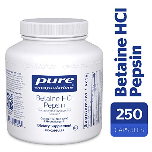 (Pure Encapsulations - Betaine HCl/Pepsin - Hypoallergenic Dietary Supplement to Support a Healthy Digestive Tract* - 250 Capsules)