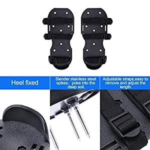 MagicFour Lawn Shoes, Lawn Aerator Shoes,Aerator Spike Shoe,Aerating Soil Sandals,Aeration Lawn Tool with 3 Buckles and 3 Adjustable Straps for Garden and Yard,Spring
