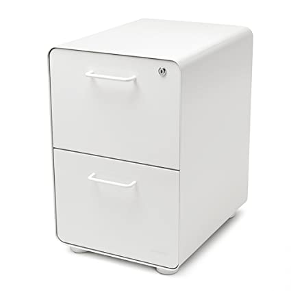 Delicieux Poppin White Stow 2 Drawer File Cabinet, Metal, Legal/Letter