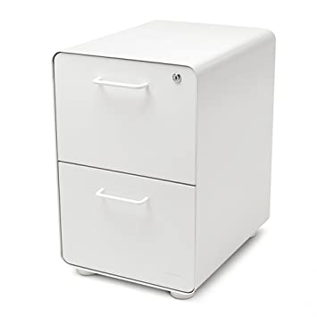 Gentil Amazon.com : Poppin White Stow 2 Drawer File Cabinet, Metal, Legal/Letter :  Office Products