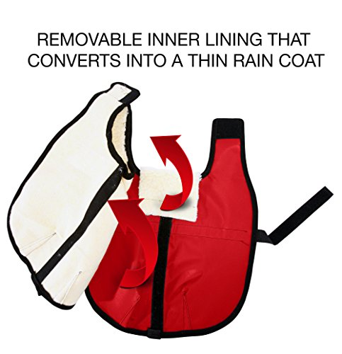 All Seasons Sherpa Coat Vest for Dogs with Velcro Strap for Large Dogs (Large - Red) by All Seasons Products, Inc. (Image #5)
