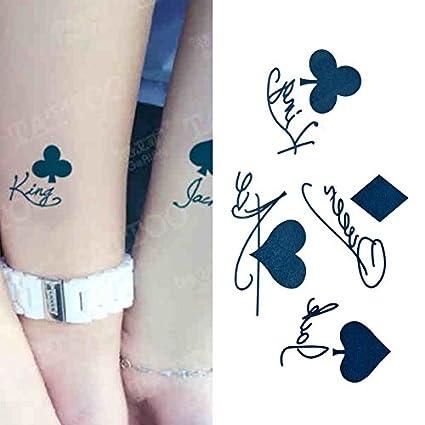 Oottati Tatuajes Temporales Jugando Cartas Jack King (Juego De 2 ...