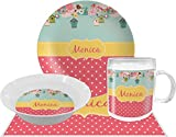 Easter Birdhouses Dinner Set - 4 Pc (Personalized)