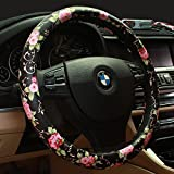 Limited - Binsheo PU Leather Floral Auto Car Steering Wheel...