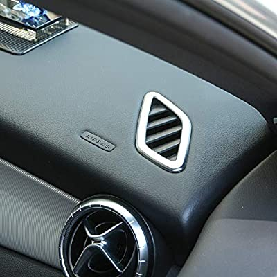YUECHI for Mercedes Benz CLA GLA Class W117 X156 2014-2020 ABS Chrome Dashboard Air Conditioning Vent Trim Stickers Accessories: Automotive