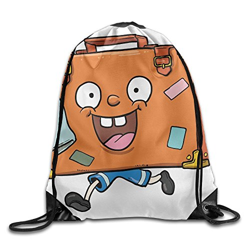 Beam Drawstring Storage Bag Funny Cartoon Travelling Bundle Gym Ball Backpack