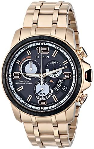 Citizen Eco-Drive Men s BY0108-50E Chrono-Time A-T Analog Display Rose Gold Watch