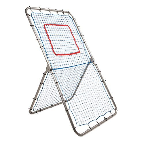 Champion Sports Rebound Pitchback Net: Adjustable Training Practice Rebounder Bounceback Screen for Baseball, Softball, Lacrosse, Soccer, Basketball