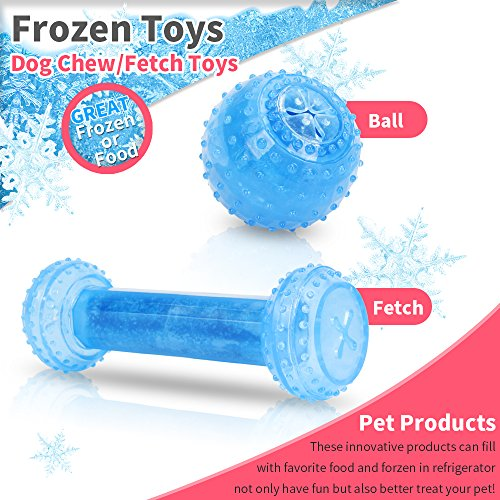 Wiltop Pet Products Arctic Freeze Fetch Food Cooling Teether Chew Toy (Dumbbell & (Arctic Cat Advantage)