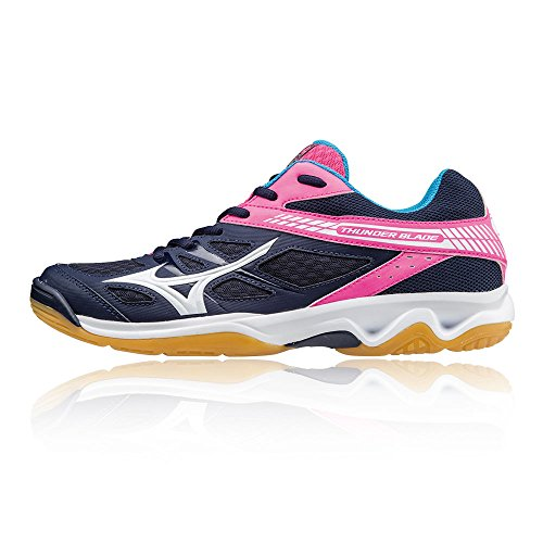 Blade Navy Thunder Mizuno Women's WOS Volleyball Blue Shoes BZUw4q
