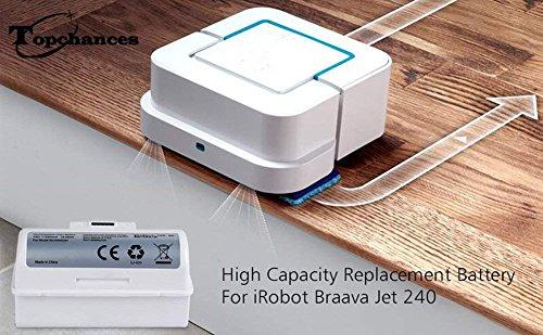 JIAN YA NA Batería de iones de litio de alta capacidad de 3.6V 5300mAh para iRobot Robot de limpieza de piso Braava Jet 240: Amazon.es: Hogar
