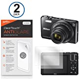 Nikon Coolpix S7000 Screen Protector, BoxWave [ClearTouch Anti-Glare (2-Pack)] Anti-Fingerprint Matte Film Skin for Nikon Coolpix S7000, S6800, S5300