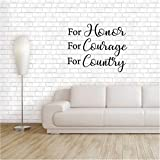 country kitchen table decorating ideas pesua Lettering Words Wall Mural DIY Removable Sticker Decoration For Honor For Courage For Country