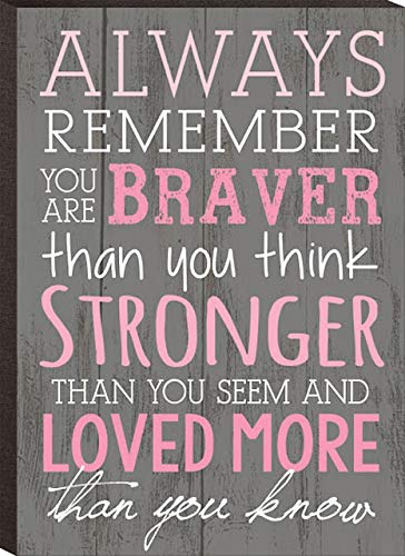 s Remember You are Braver Than You Think 4x6 Wall Plaque ()