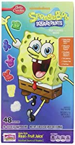 Betty Crocker SpongeBob Squarepants Fruit Flavored Snacks, 38.4 Ounce