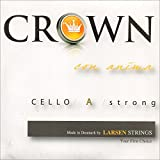 Crown 4/4 Cello String Set - Thick(Forte) Gauge - Chromesteel/Steel - Ball End