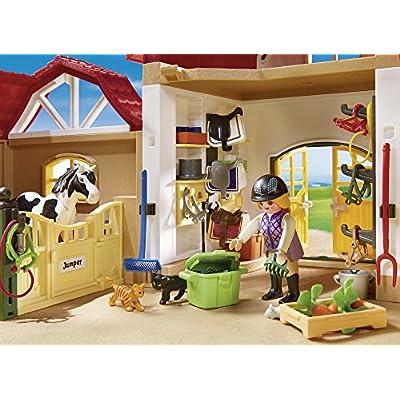 PLAYMOBIL Horse Farm Building Set: Toys & Games