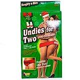 Forum Novelties 3907 Undies for Two, Fun Fundie Underwear Panties for Halloween Parties & Holidays, One Size, White