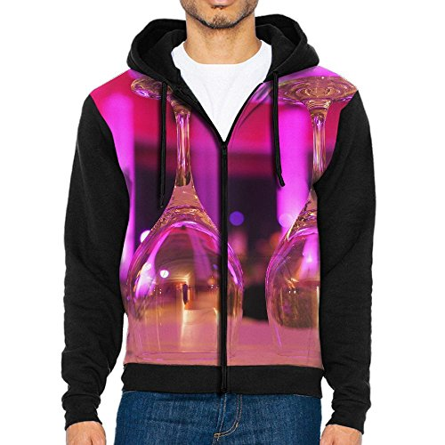 Champagne Outerwear Sweatshirts Zippers Jackets Kanga Pocket XX-Large (Romantic Year New Champagne)
